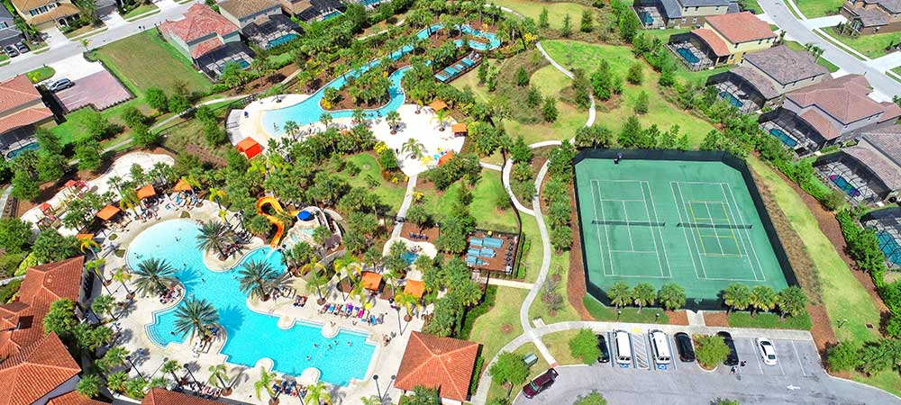 Solterra Resort Community Amenity Center Aerial View