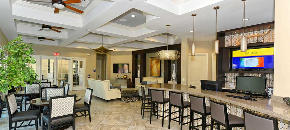 Clubhouse Gathering Room at Solterra Resort