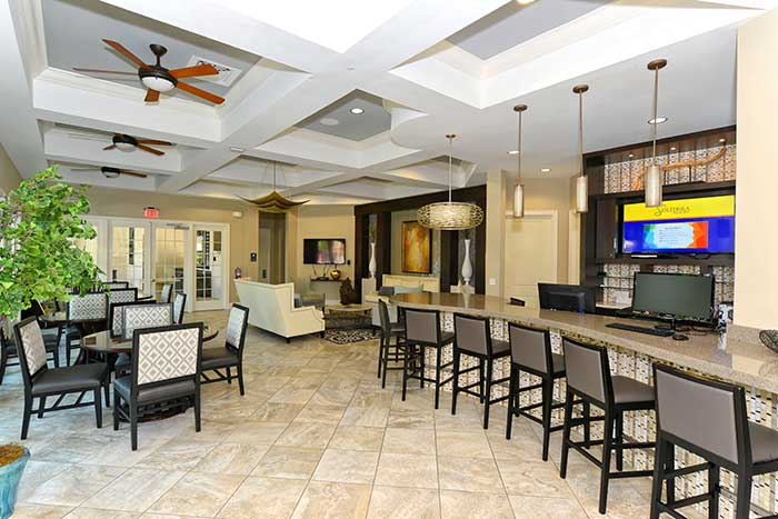Solterra Resort Clubhouse Interior Gathering Room