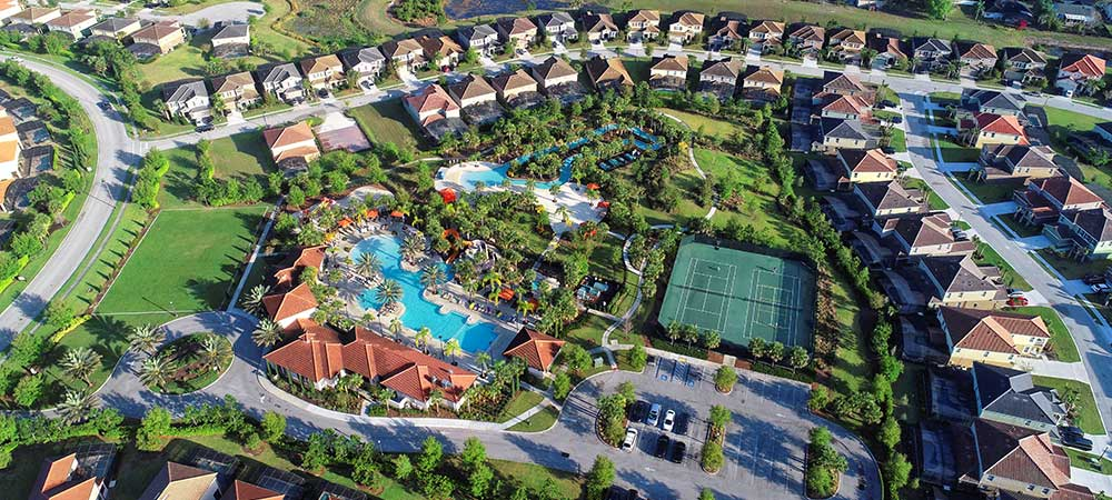 Solterra Resort Community Overhead Aerial View