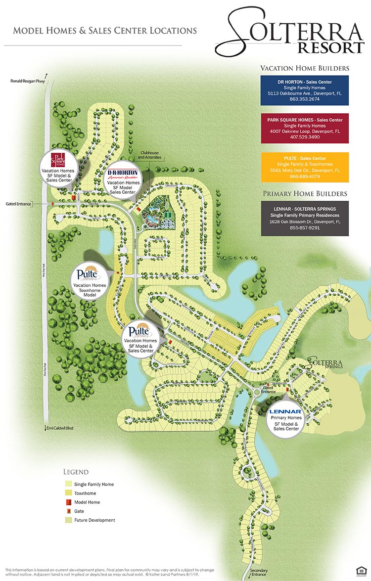 Solterra Community Model Tour Site Plan Map