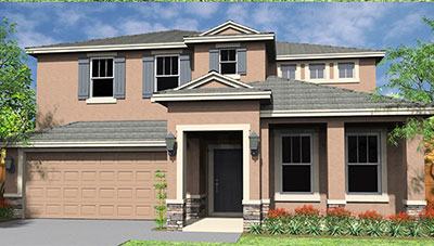 Bimini II-G Rendering of D.R. Horton Home at Solterra Resort