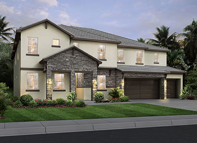 Monticello Rendering of Park Square Home at Solterra Resort