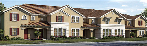 Townhome Rendering of D.R. Horton at Solterra Resort